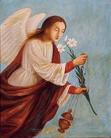 牧島如鳩《祈祷の天使(左)》