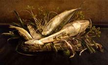 吉田嘉三郎《海魚図》