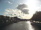 ダブリン市内を流れるリフィ河