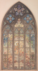 プラハ聖ヴィート大聖堂 ステンドグラスの窓のプラン