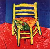 フランシス・ベーコン「アルル1988年ファン・ゴッホ展のポスター」1988年