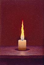 《蝋燭》制作年不詳 カンヴァス、油彩