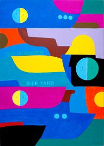 谷川晃一 《THE IZUKOGEN SHIP YARD》 2011年    アクリル    103×73cm