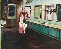 《古い楽屋》1996年 101.6×127.0cm