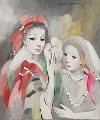 《モンテスパンとラヴァリエール》 1952年頃 油彩、カンヴァス 55×46.5 cm
