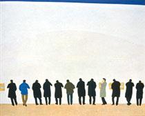 米谷清和《 Phone》 1983年 130.3×162.1cm 紙本彩色