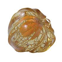 黒岩 明 《蒔絵鬼灯》 1997-98年 漆・18金・エポキシ樹脂 4×4×4cm