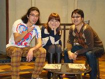 左から片桐仁さん、田中美里さん、土田英生さん