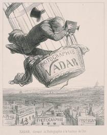 オノレ・ドーミエ 《写真術を芸術の高みまで引き上げるナダール》 プールヴァール 1862年 リトグラフ 伊丹市立美術館蔵