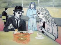 依田洋一朗 《上機嫌な朝食》 2009年 油彩・カンヴァス 76.2×101.6cm