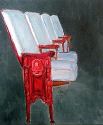 依田洋一朗 《コロナ・プラザ劇場の椅子 #2》 2010年 油彩・カンヴァス 35.6×30.5cm