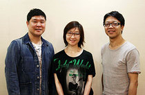 『算段兄弟』写真は左からCASTの竹井亮介さん、村岡希美さん、作・演出の土田英生さん